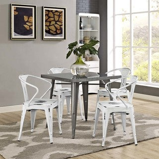 Modway Promenade Steel Dining Chairs (Set of 4)