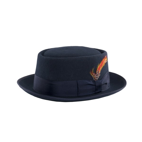 Shop Ferrecci Navy Wool Pork Pie Hat - Free Shipping On Orders Over ... e21d14c37d30