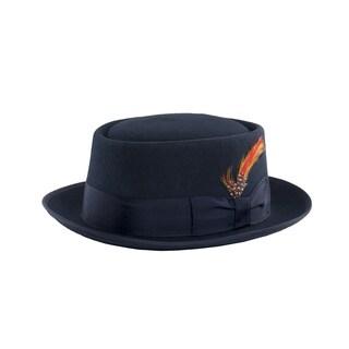 Ferrecci Navy Wool Pork Pie Hat