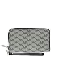 Michael KorsJet Set Travel Large Black/Multi Logo Wallet