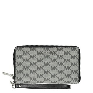Michael KorsJet Set Travel Large Black/Multi Logo Wallet