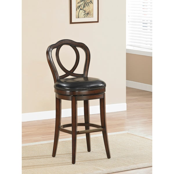 Shop Positano Brown Wood Bar Height Stool Free Shipping