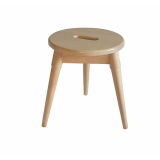 Somette Arendal Solid Wood Round Tripod Stool