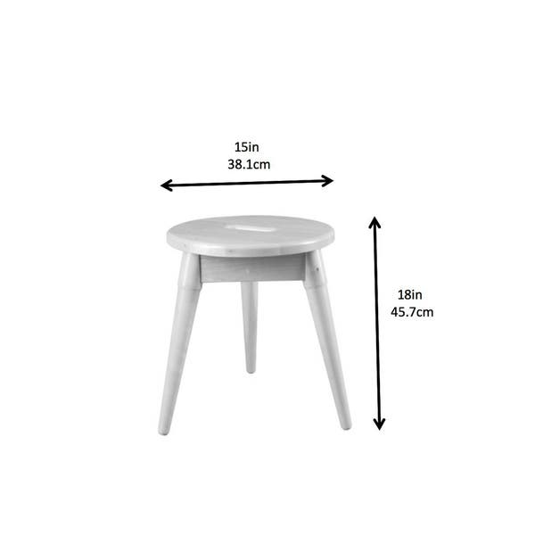 Marvelous Shop Newridge Home Solid Wood Arendal Round Small Tripod Andrewgaddart Wooden Chair Designs For Living Room Andrewgaddartcom