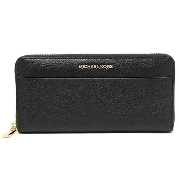 a702a5f31fff3e Shop Michael Kors Mercer Continental Black Leather Zip-around Wallet ...