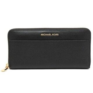 Michael Kors Mercer Zip-Around Black Continental Wallet