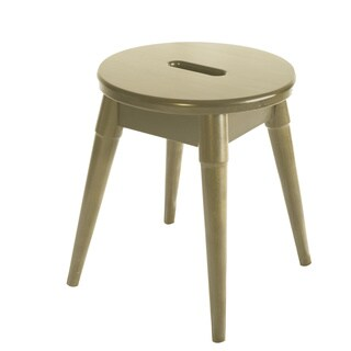 Somette Arendal Solid Wood Round Stool (Option: White)