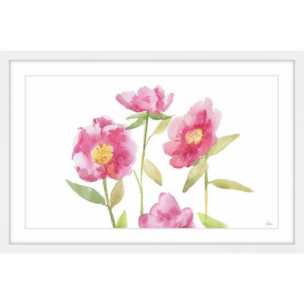 'Splendid Pink' Framed Painting Print