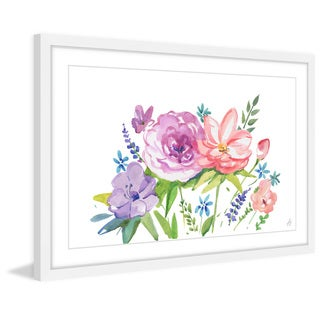 'Pastel Bouquet' Framed Painting Print