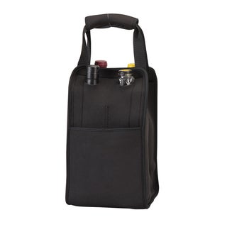 Black Four Bottle Wine Tote