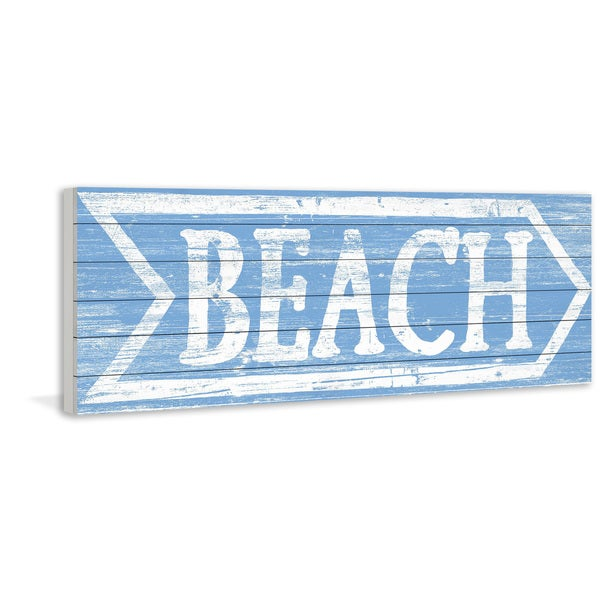 Marmont Hill - Handmade Beach This Way Painting Print on White Wood