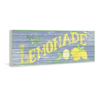 Marmont Hill - Handmade Yellow Lemonade Painting Print on White Wood