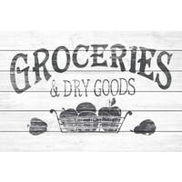 'Dry Goods' Painting Print on White Wood