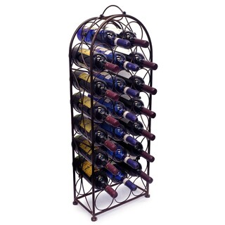 Bordeaux Chateau Wine Rack - Holds 23 Bottles - Bronze