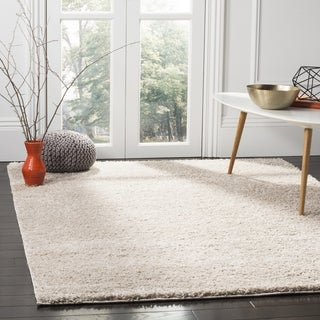 Safavieh New York Shag Casual Solid Light Grey Area Rug (6'7 Square)