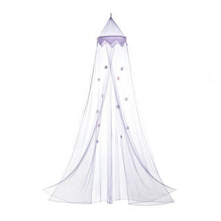 Koehler Home Decor Purple Posies Bed Canopy