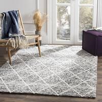 Safavieh Natura Transitional Geometric Hand-Woven Wool Ivory/ Black Area Rug (6' Square)