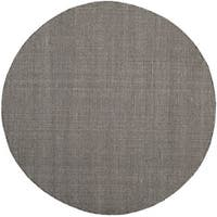 Safavieh Montauk Transitional Geometric Hand-Woven Cotton Ivory/ Black Area Rug (4' Round)