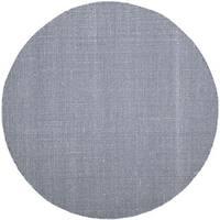 Safavieh Montauk Transitional Geometric Hand-Woven Cotton Ivory/ Navy Area Rug - 4' Round