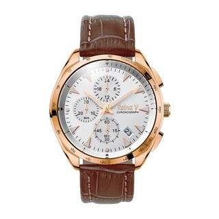 Reina V Men's Wrist Watch Stainless Steel With White Dial - Precision Chronograph Function Robert Collection
