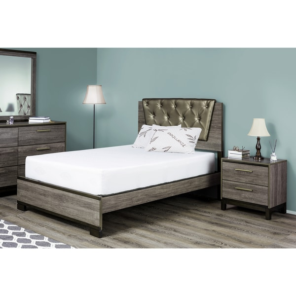 fortnight bedding 8 inch queen size latex foam mattress free shipping today. Black Bedroom Furniture Sets. Home Design Ideas