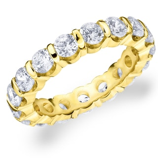 Amore 14K Yellow Gold 3.0 CTTW Eternity Diamond Wedding Band