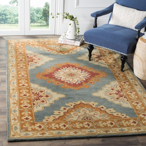 Hand Tufted Traditional Oriental Red Wool Rug With Non: Shop Safavieh Heritage Traditional Oriental Hand-Tufted
