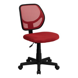 Red Ventilated Mesh Office Swivel Chair