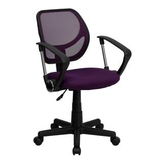 Purple Mesh Ventilated Swivel Office Chair