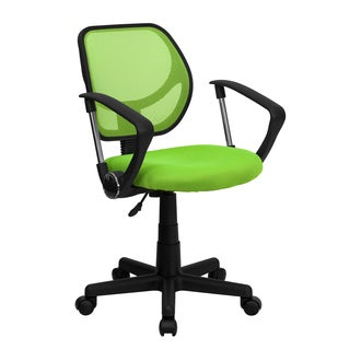 Ventilated Mesh Green Swivel Office Chair With Pneumatic Seat Height Adjustment