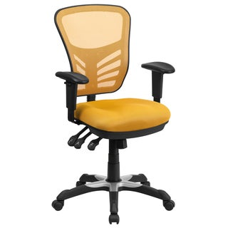 Yellow Mesh Executive Swivel Office Chair