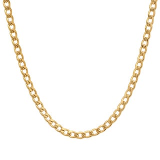 Steeltime Stainless Steel Cuban Chain Necklace