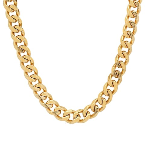 Men's Steeltime Stainless Steel Cuban Chain Necklace