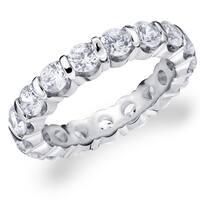 Amore Platinum 3.0 CTTW Eternity Diamond Wedding Band