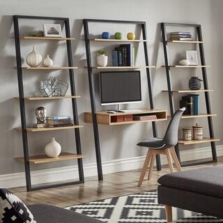 long desks for home office. ranell leaning desk ladder shelves by inspire q modern