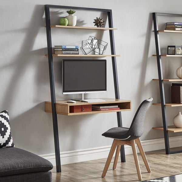 Ranell Leaning Desk Ladder Shelves by iNSPIRE Q Modern Free