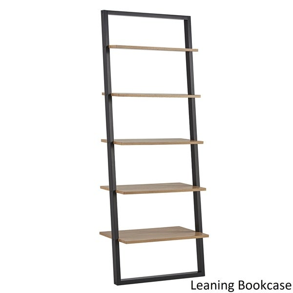Ranell Leaning Desk Ladder Shelves by iNSPIRE Q Modern - Free Shipping  Today - Overstock.com - 22829302 - Ranell Leaning Desk Ladder Shelves By INSPIRE Q Modern - Free