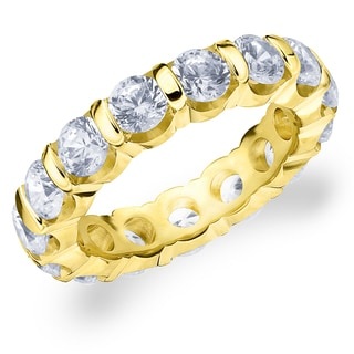 Amore 14K Yellow Gold 4.0 CTTW Eternity Diamond Wedding Band