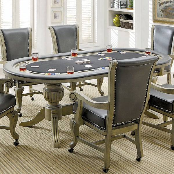 Frankline Traditional Flippable Wooden Cover Game Table by FOA