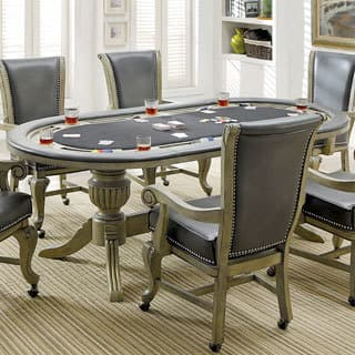 Furniture of America Frankline Traditional Leatherette/Flannelette Game Table with Flippable Wooden Cover|https://ak1.ostkcdn.com/images/products/16489895/P22829422.jpg?impolicy=medium