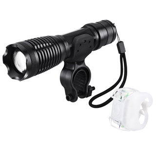 Led Bike Light Set with Bracket, Bicycle Front Flashlight with 5 Light Modes and Rear Bike Light wit