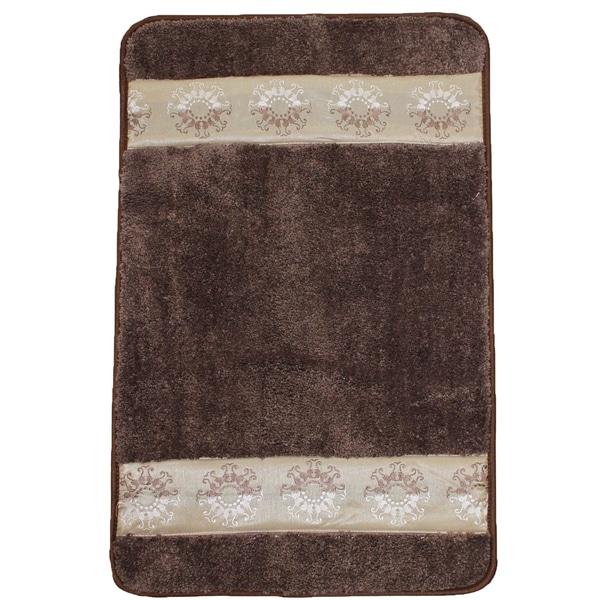 Light Brown Super Soft Latex Backing Non-Slip Bath Rug (18'' x 30'')