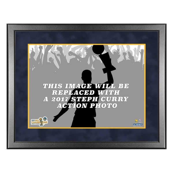 2017 NBA Champion Golden State Warriors Steph Curry 8x10 framed