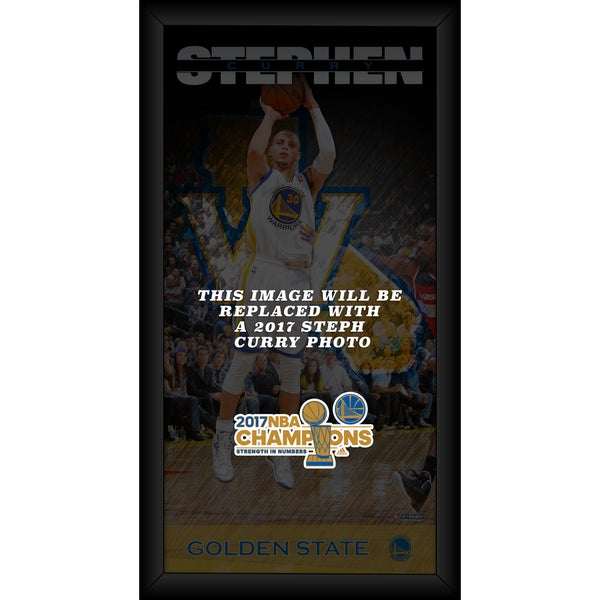 Steph Curry Golden State Warriors 10x20 Framed 2017 NBA Chamion Player Profile