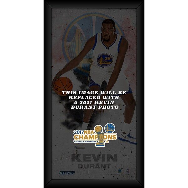 Kevin Durant Golden State Warriors 10x20 Framed 2017 NBA Chamion Player Profile