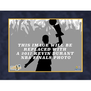 Kevin Durant Golden State Warriors Unsigned Matted/Polybagged 8x10 Photo 2017 NBA Finals Holding Both Trophy(Getty #)