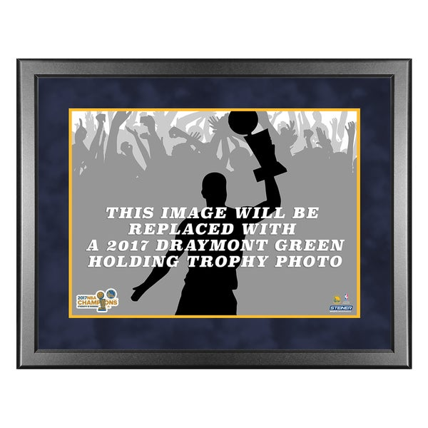 2017 NBA Champion Golden State Warriors Draymond Green with Trophy framed