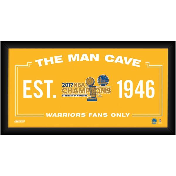 2017 NBA Champion Golden State Warriors 10x20 Man Cave (Champs Logo)