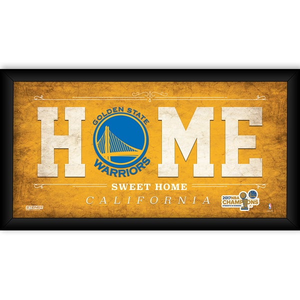 2017 NBA Champion Golden State Warriors 10x20 Home Sweet Home (Champs Logo)