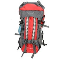 80L Outlander Professional Backpack Shoulders Bag Red and Grey